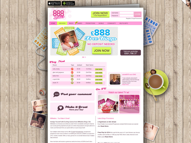 888 Ladies Bingo Review - Is this A Scam/Site to Avoid