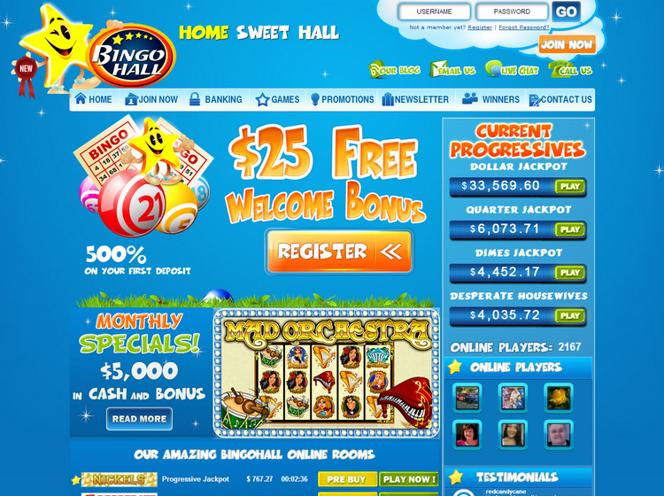 Bingo Hall Login