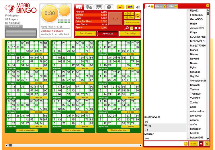 Maria bingo casino bonus